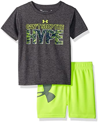 a3a5c4a5b5 Amazon.com: Under Armour Baby Boys Can't Stop The Hype Set, Carbon ...