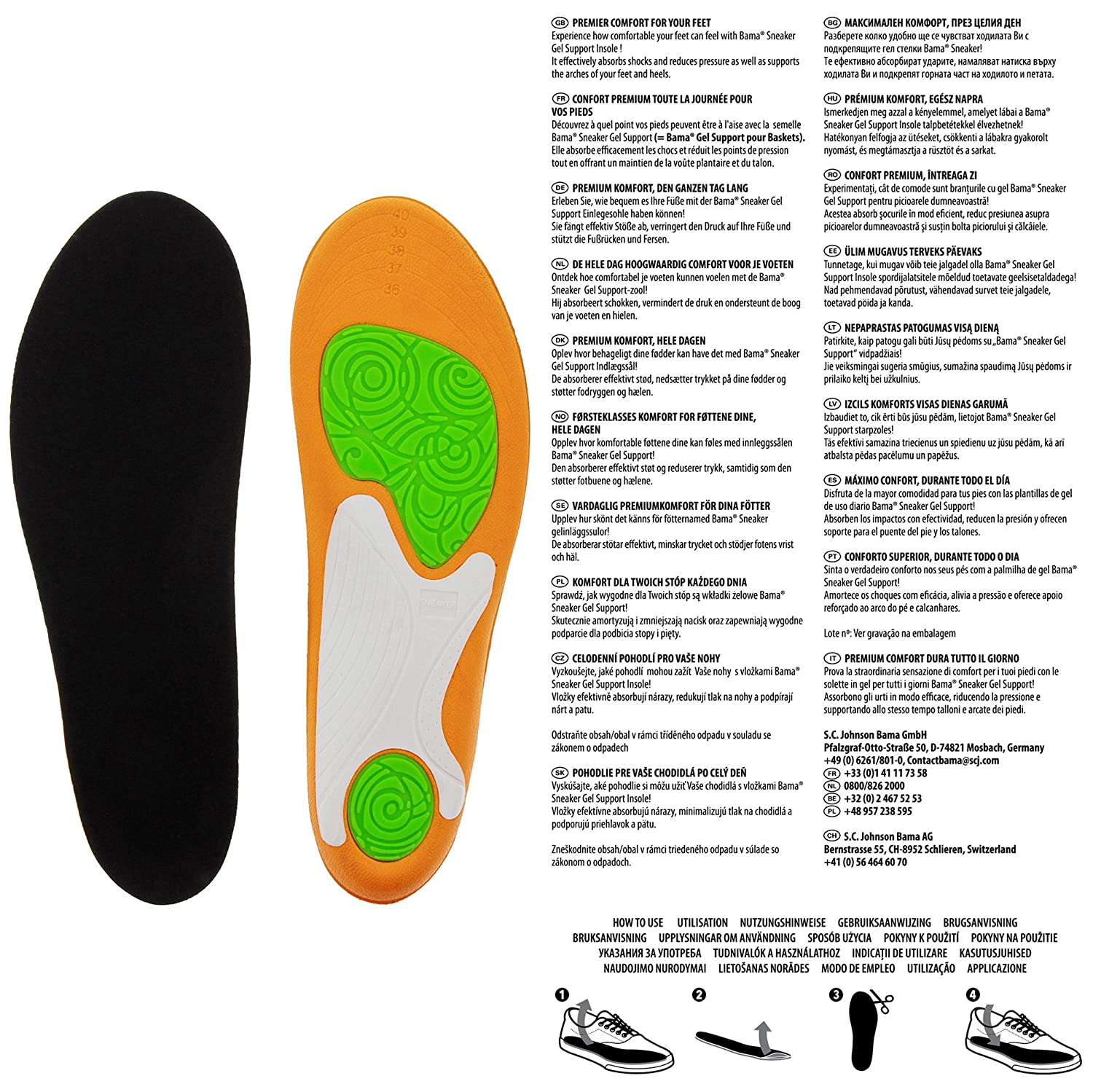 Bama Bama Sneaker Gel Support CTS 5 CT 36-41 Comfort Insole ...