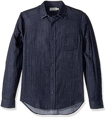 e197b064 Amazon.com: Vince Men's Double Face Long Sleeve Button Down Down, Heather  New Coastal, XXL: Clothing