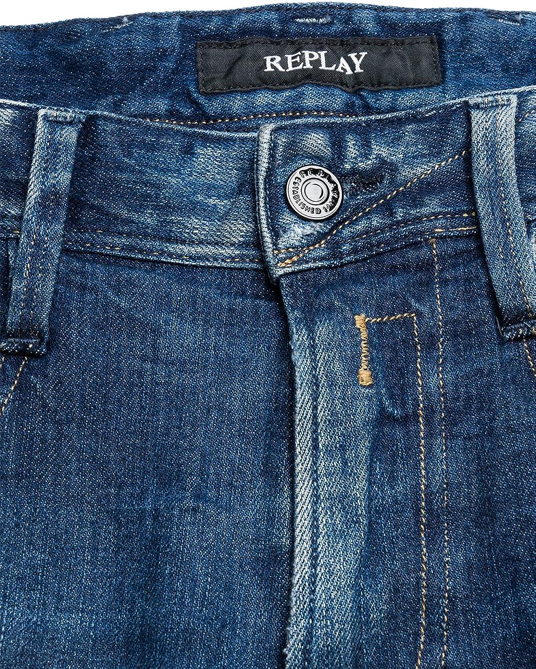 Replay Herren Anbass Jeanshose Blau (Blue Denim 9)