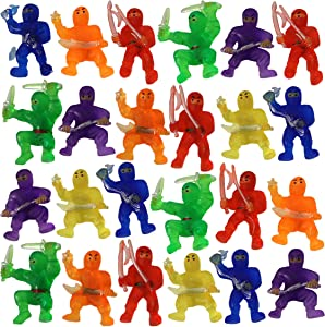 Mini Ninja Warrior Toys Assorted Color Action Figures (24)