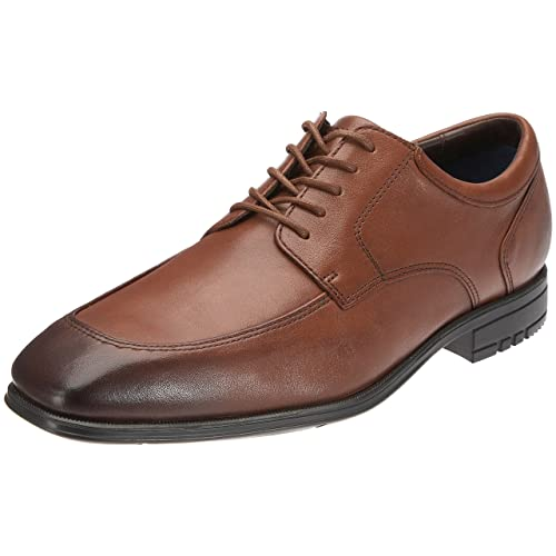Rockport Men's Maccullum Dark Tan Shoe K54473 7.5 UK , 41 EU ...