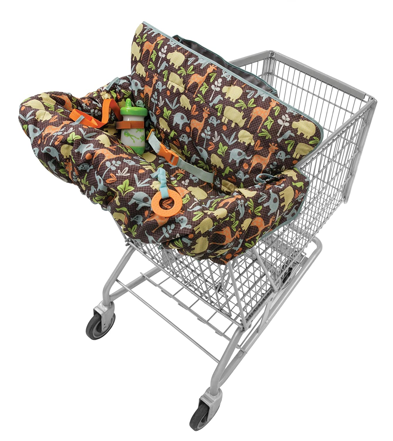 Infantino Compact 2-in-1 Shopping Cart Cover, Neutral : Baby Shopping Cart Covers : Baby