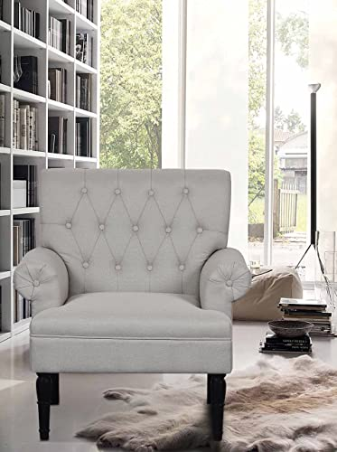 Container Furniture Direct The Weekend Mid-Century Modern Linen Upholstered Chair Review