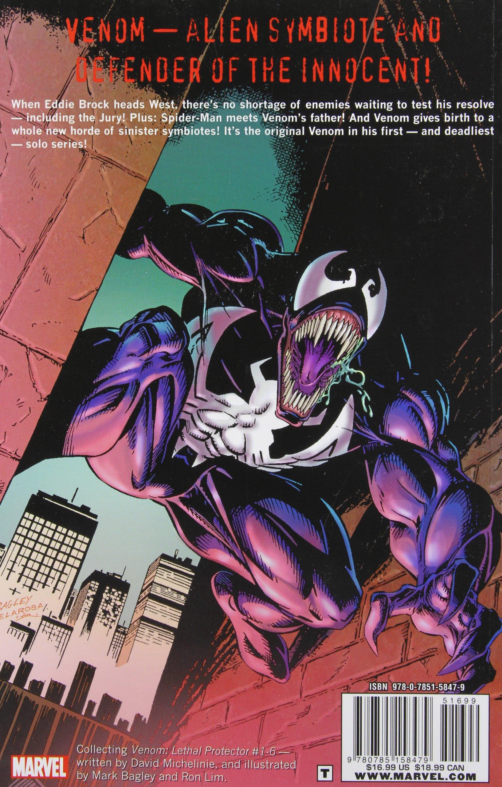 Amazon: Venom: Lethal Protector (9780785158479): David Michelinie, Mark  Bagley, Ron Lim: Books