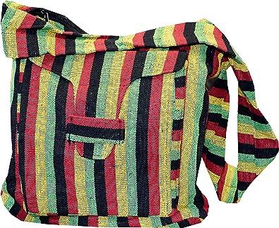 Made in Nepal Purse Sling Bag Handcrafted Crossbody Hobo Boho Bohemian Hippie Messenger Tote Cotton Bag