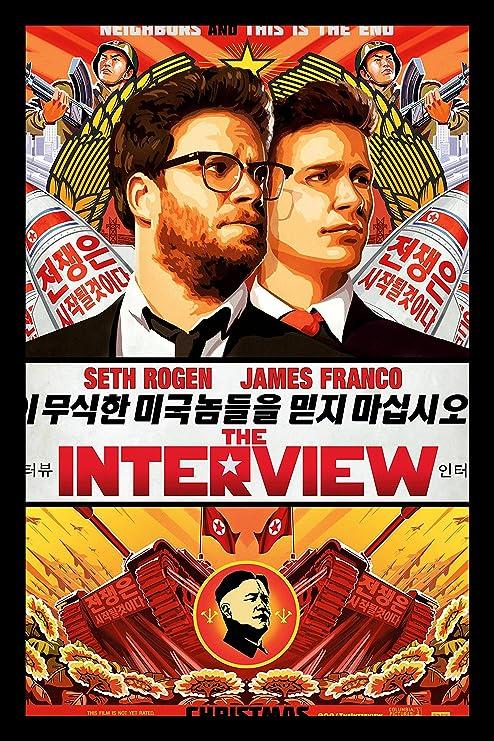 Amazon Com Buyartforless If Mov1003x 18x12 1 25 Black Plexi Framed The Interview James Frank And Seth Rogen Movie Art Print Poster 18 X 12 Posters Prints