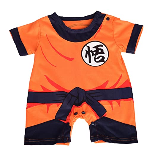6008884bed Amazon.com  Dressy Daisy Baby Dragon Ball Son Goku Costume Dress Up Jumpsuit  Romper Outfit Infant  Clothing