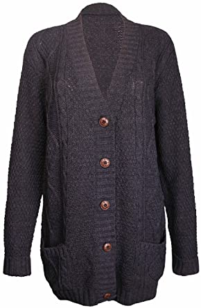 PurpleHanger Women's Knit Sweater Cardigan Top Plus Size at Amazon ...