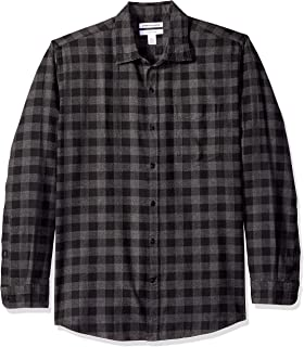 Amazon Essentials Men s Regular-Fit Long-Sleeve Plaid Flannel Shirt d35edea37
