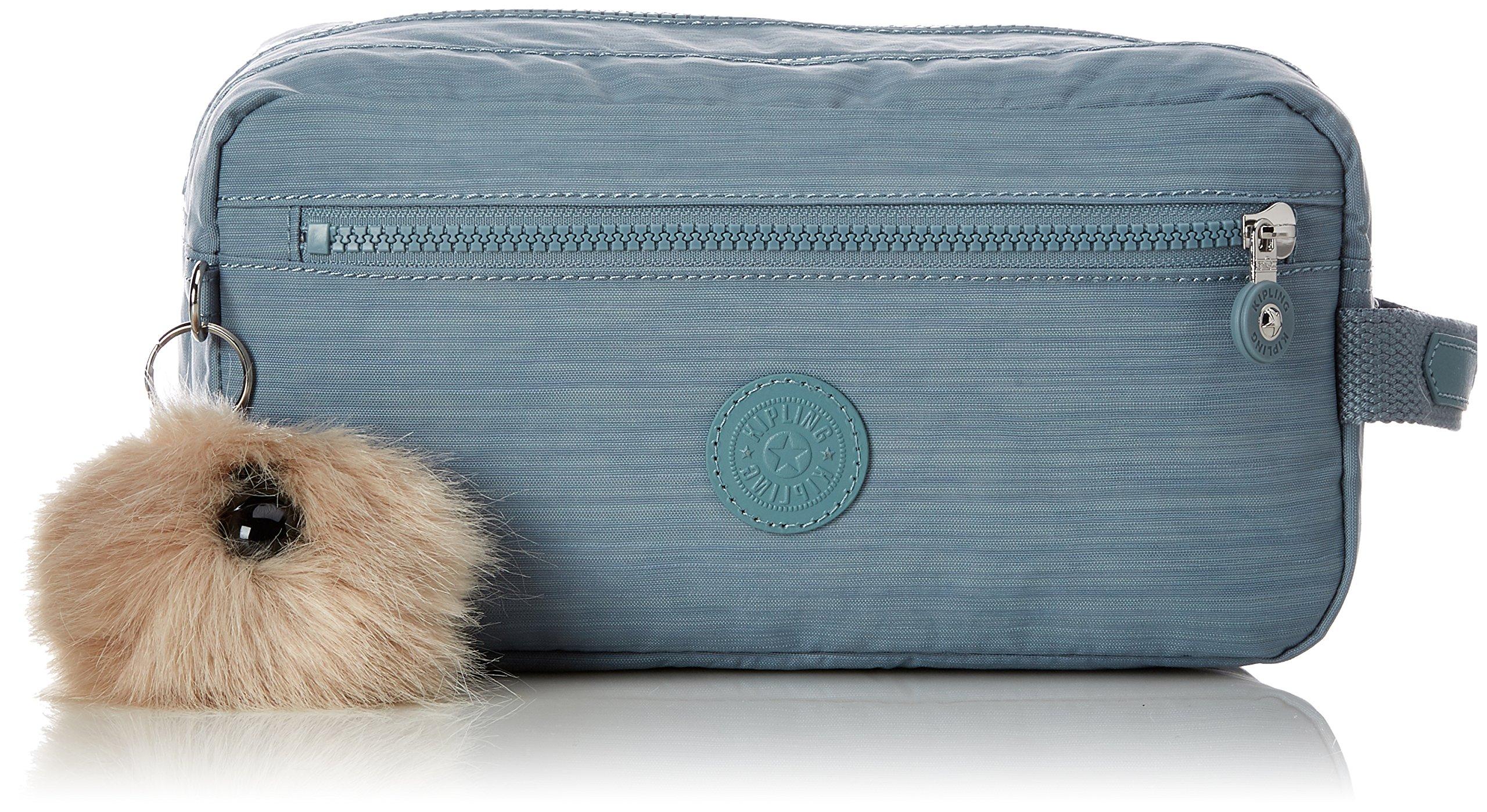 colours and striking favorable price wide range Kipling AGOT Toiletry Bag, 26 cm, 3 liters, Blue (Dazz Soft Aloe)