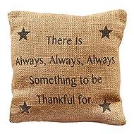 Small Burlap Thankful Pillow