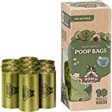 Sacchettini per Pupù Pogi - 10 Rotoli (150 Sacchettini) - Grandi, Biodegradabili, Profumati, Sacchetti per bisogni dei cani
