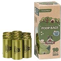 Pogi's Poop Bags - 10 Rolls (150 Bags) - Large, Biodegradable, Scented, Leak-Proof Dog Poo Bags