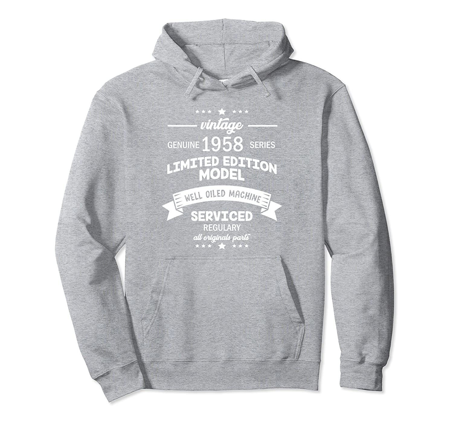 a80c96074 Vintage 60th Birthday Funny 1958 All Original Parts Hoodie-alottee gift
