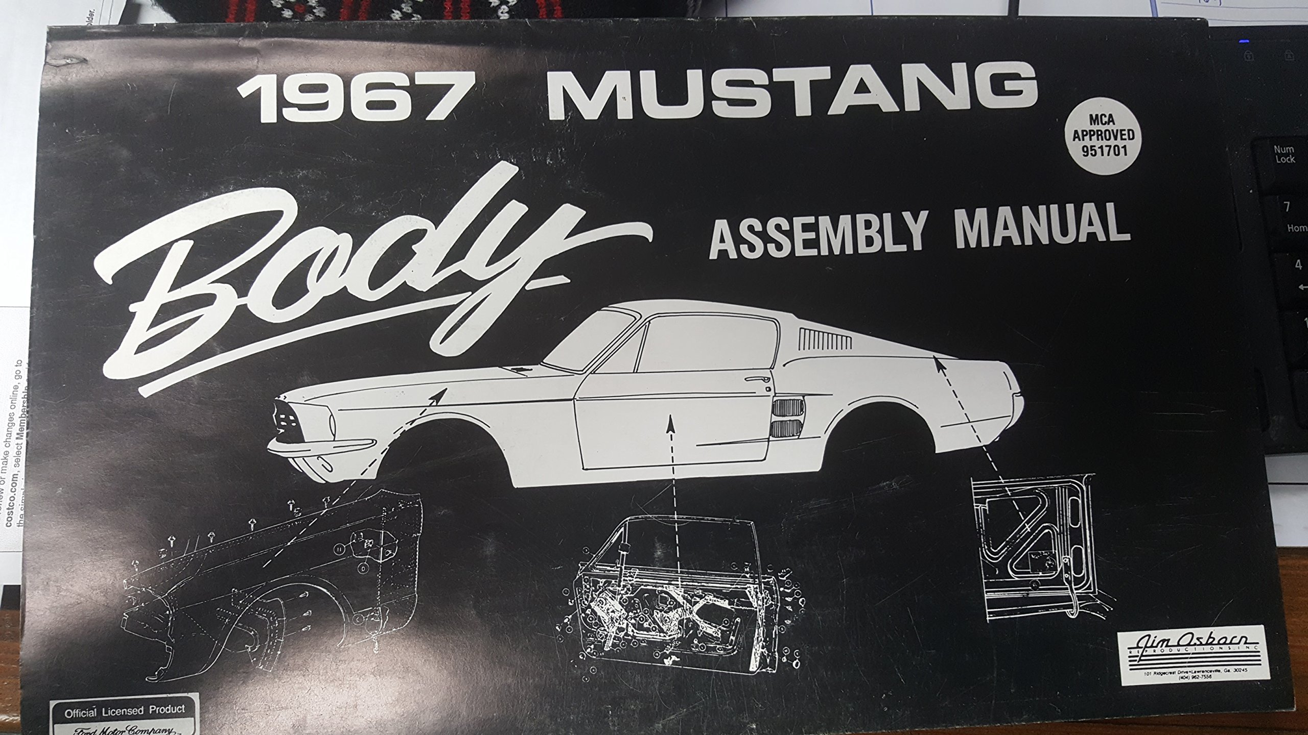 1967 mustang body assembly manual ford amazon com books rh amazon com 1968 mustang assembly manual pdf 1967 ford mustang assembly manual