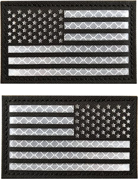 Embroidered US America Flag Patch Tactical Morale Badge Left Right