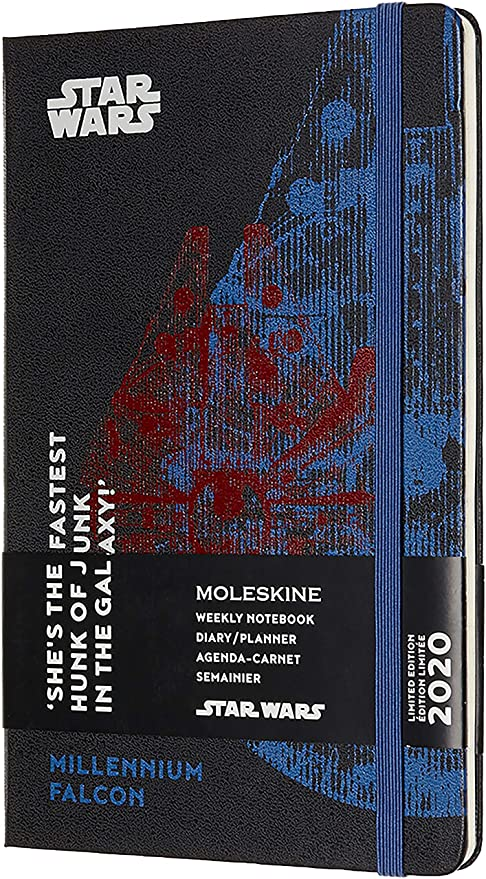 Moleskine Limited Edition Star Wars 12 Month 2020 Weekly Planner, Hard Cover, Large (5