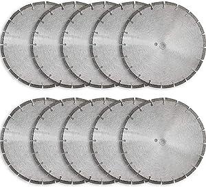 "14"" Sintered 10mm Wet/Dry General Purpose Concrete Diamond Saw Blade (10 Pack)"