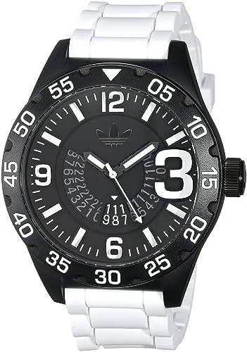 adidas Hombre Newburgh Cuarzo Casual Reloj (plástico y Silicona, Color: Blanco