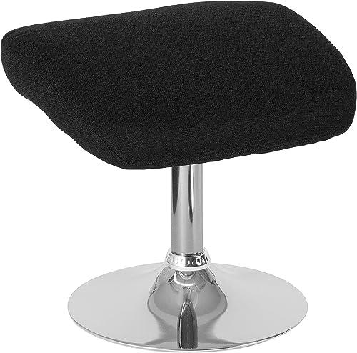 Flash Furniture Egg Series Black Fabric Ottoman