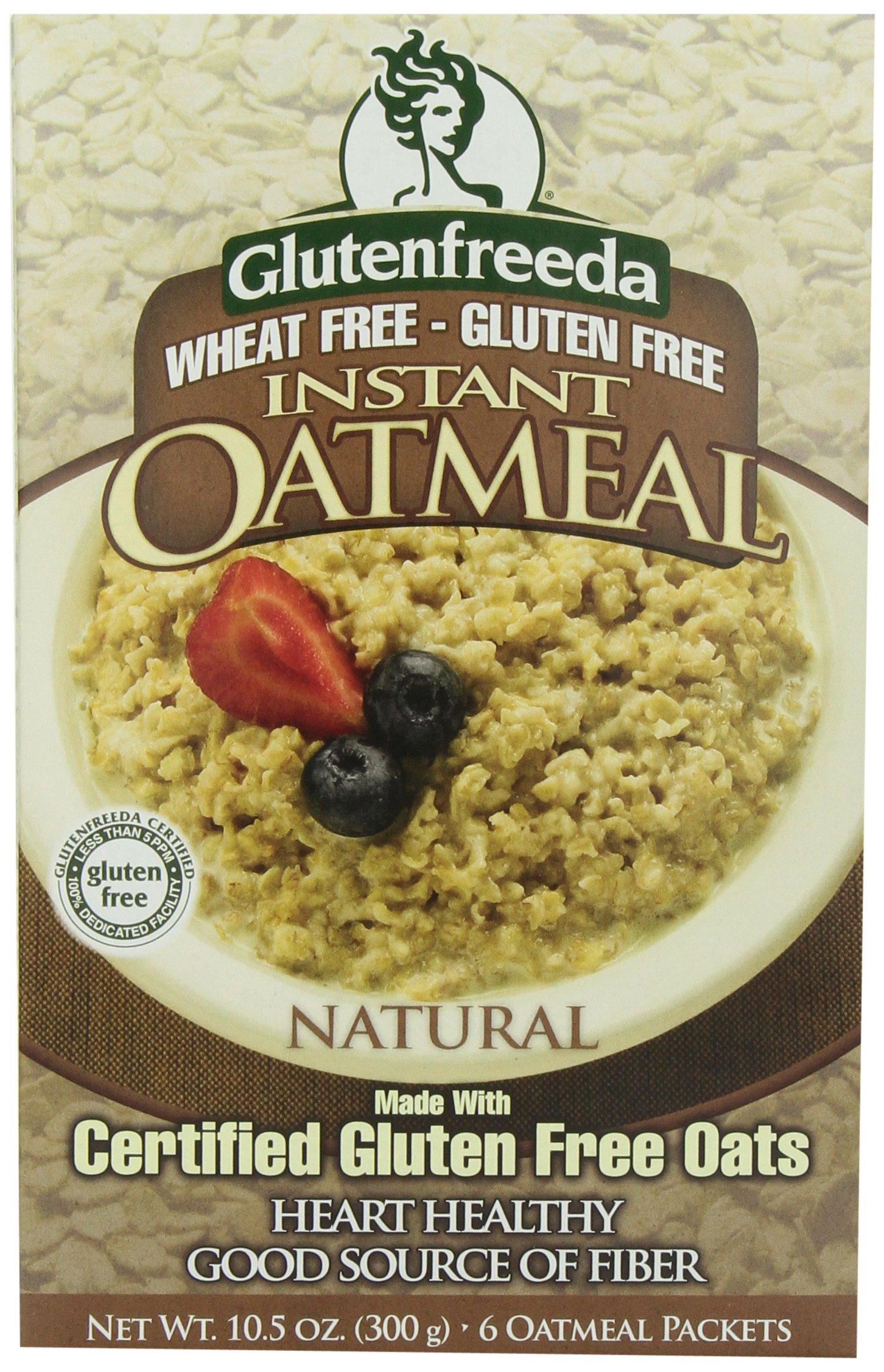Glutenfreeda Gluten Free Instant Oatmeal, Natural, 8-packet Box, 8 Pack