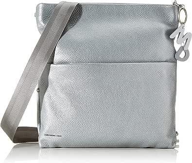 Mandarina Duck Mellow Lux Tracolla, Bolsa de Mensajero para Mujer, Plateado (Silver), 5.5x25x34.5 Centimeters (W x H x L)