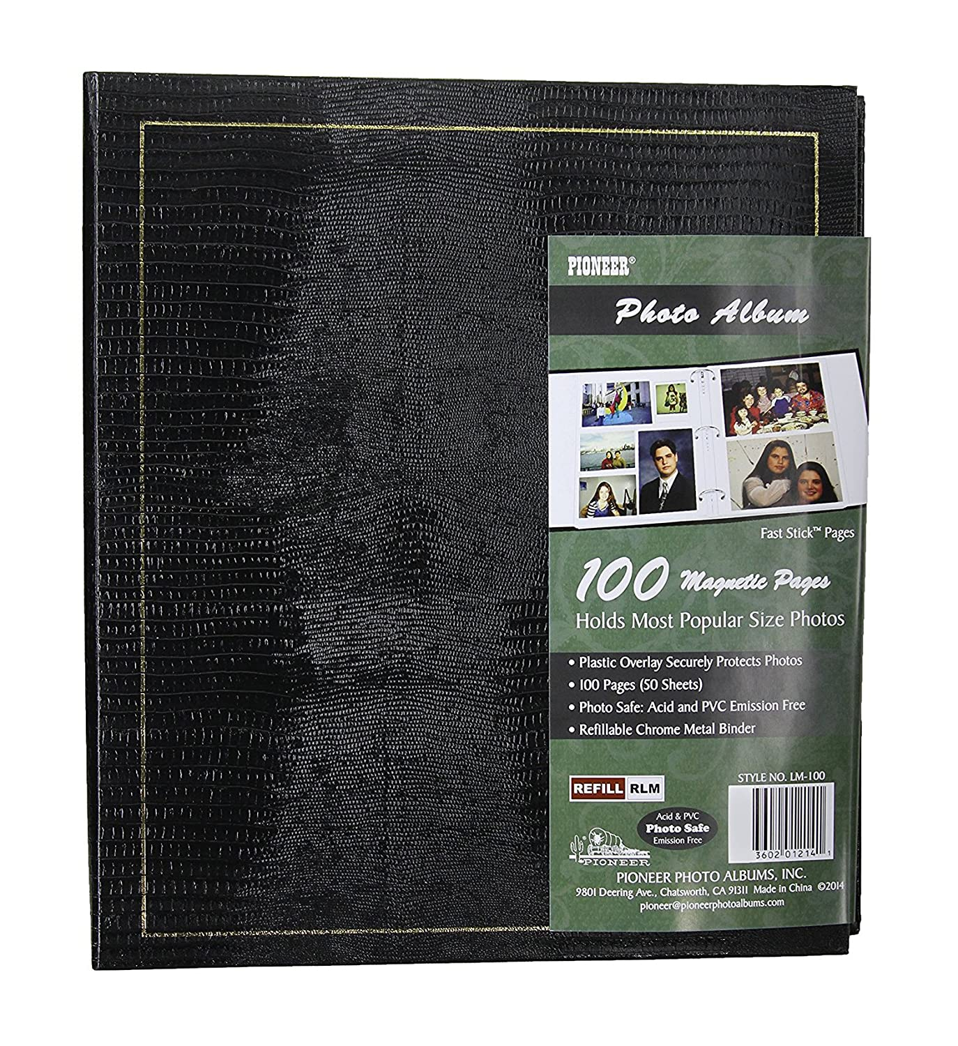 Photo Albums Magnetic 3-Ring with 100 Pages, 8.25