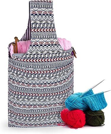 super crochet gift for her yarn humor yarn shop project bag yarn storage Tote bag crochet bag
