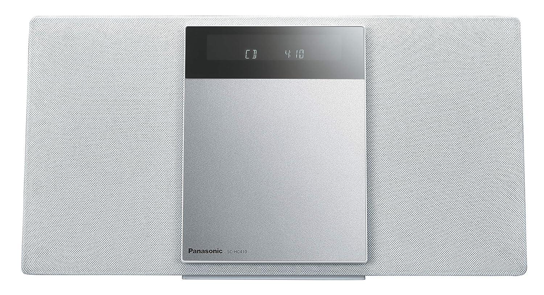 パナソニック ミニコンポ FM/AM 2バンド Bluetooth対応 4GBメモリー内蔵 ホワイト SC-HC410-W B07RQHZRKS ホワイト