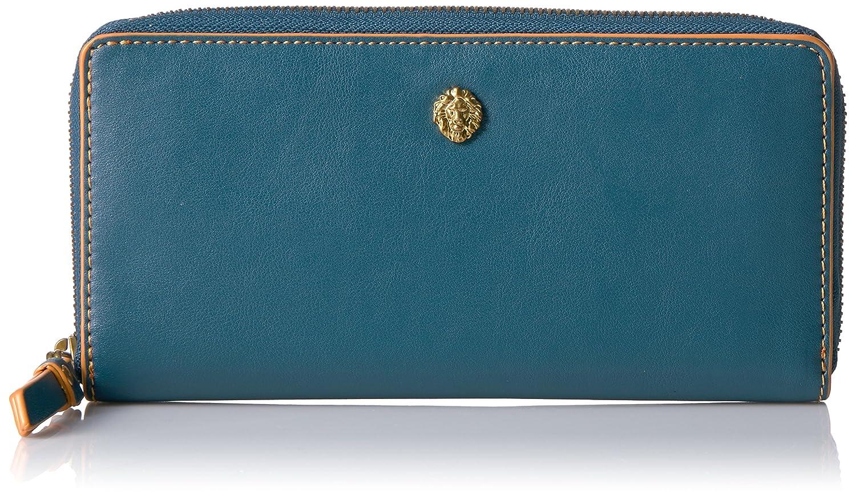 Anne Klein Slim Zip Around Small Wallet Deep Azure One Size 60441739