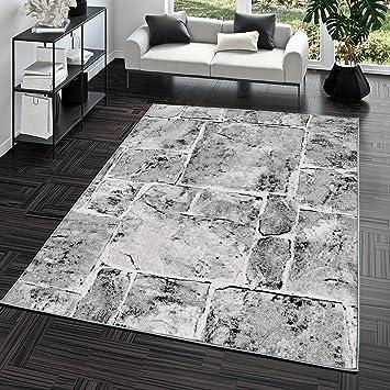 Steinboden Küche teppich steinboden marmor optik design modern wohnzimmerteppich grau