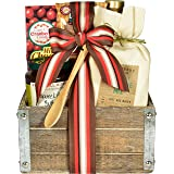 Gift Basket Village Downhome Breakfast Gift Pack - Breakfast GIft in Old Fashion Wooden Box with Pancake Mix, Gourmet Topping