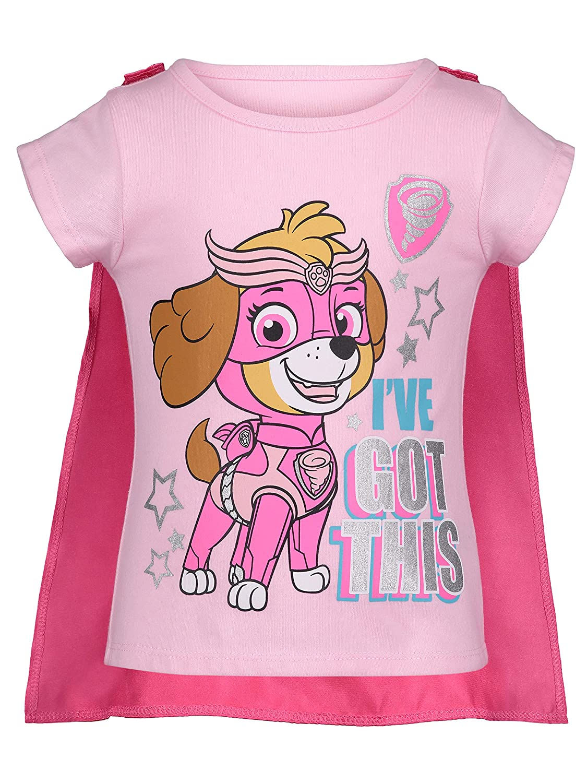 Toddler Girls Skye Patrol Clothing Outfit Shirt Tutu Tulle Skirt and Eye Mask 3pc Pink