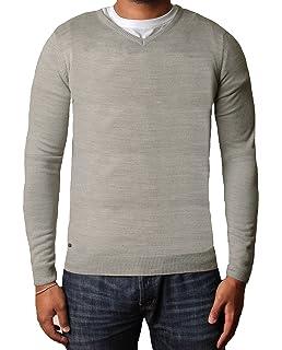 3b5890b52c715c Kensington Mens Soft Cashmillon Fashion V-Neck Jumper Sweater Knitwear  Pullover Hamar