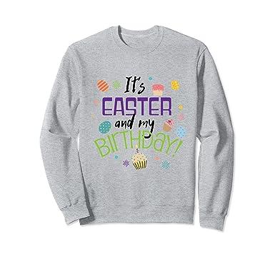 Amazon Cute Easter Egg Birthday Sweatshirt Boys Girls Adults Gift Clothing