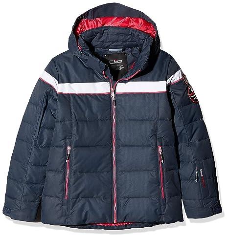 CMP Feel Warm Flock, Chaqueta antiviento para niña, niña, 38W0465, Asphalt,