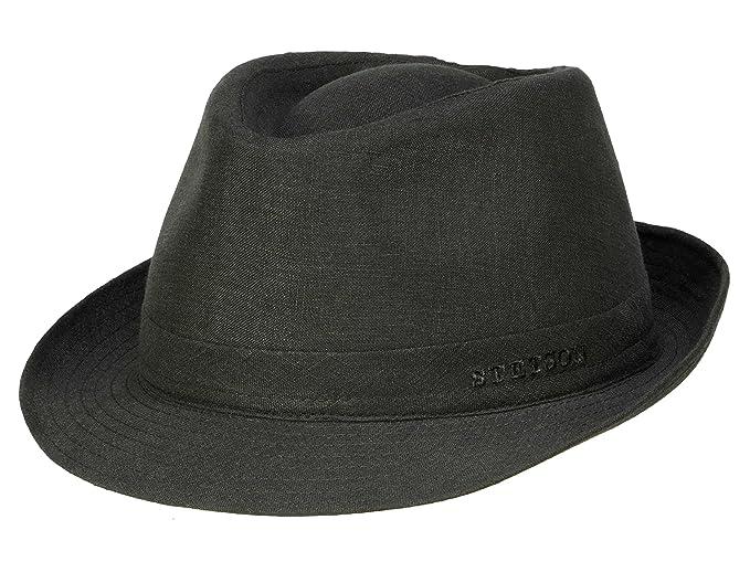 Stetson Geneva Linen - Sombrero Trilby para hombre - negro  Amazon.es  Ropa  y accesorios 04cd6ce64b7