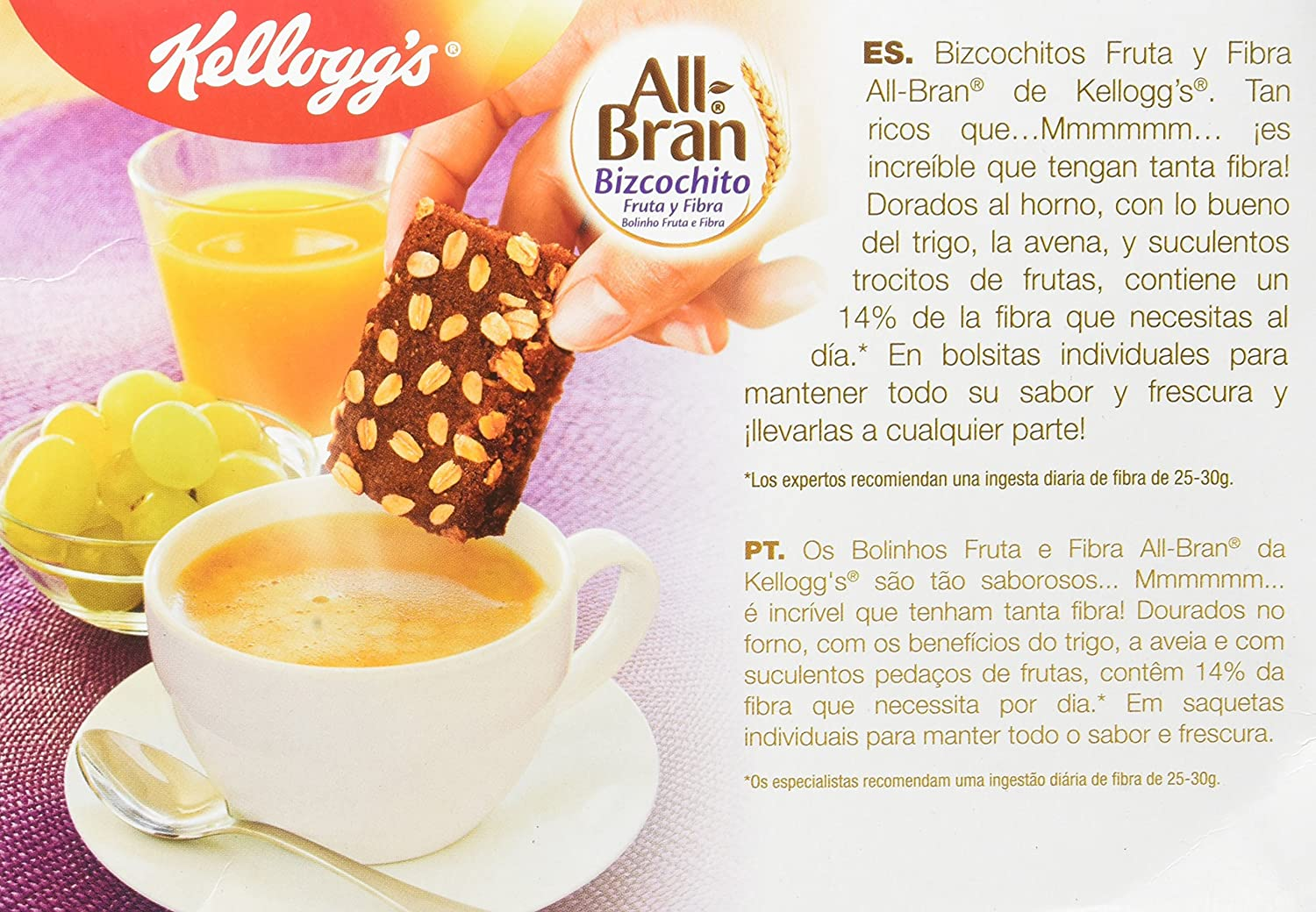 Kelloggs All Bran Bizcochito - Paquetes de 6 x 40 g - Total: 240 g
