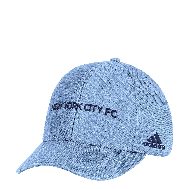One Size adidas Adult Men Wordmark Mesh Structured Adjustable Hat Blue