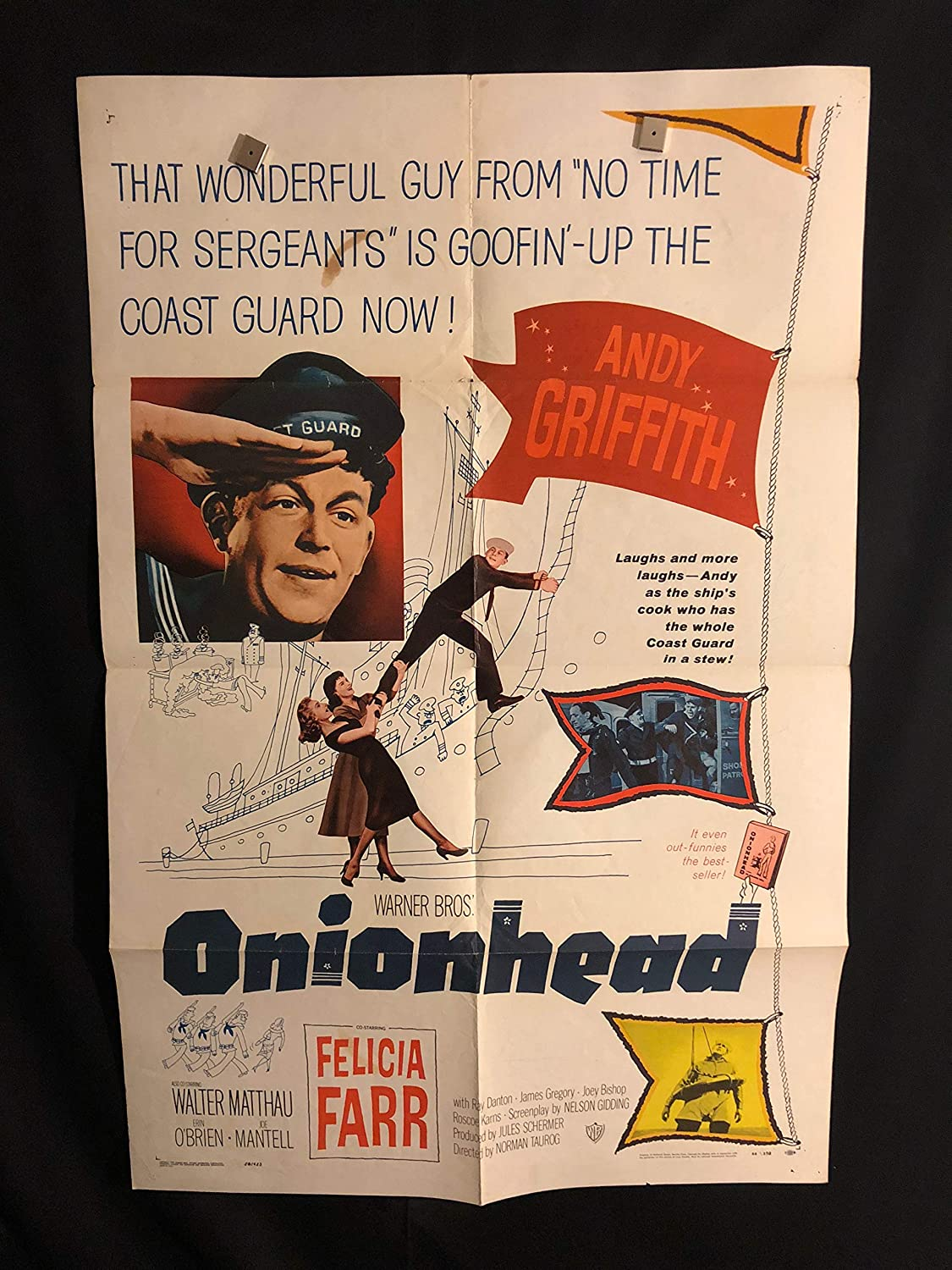 Onionhead 1958 Original Vintage One Sheet Movie Poster, Andy
