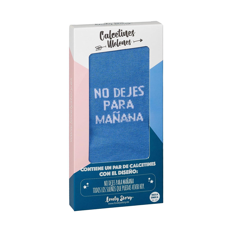 CALCETIN INDIVIDUAL MUJER TALLA UNICA CON LA FRASE: NO DEJES PARA MAÑANA LOS SUEÑOS QUE PUEDAS VIVIR HOY: Amazon.es: Ropa y accesorios