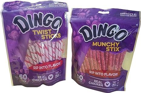 c318c66e628d1 Dingo Treat Sticks (1) Munchy Stix (1) Bundle, 2 bags total