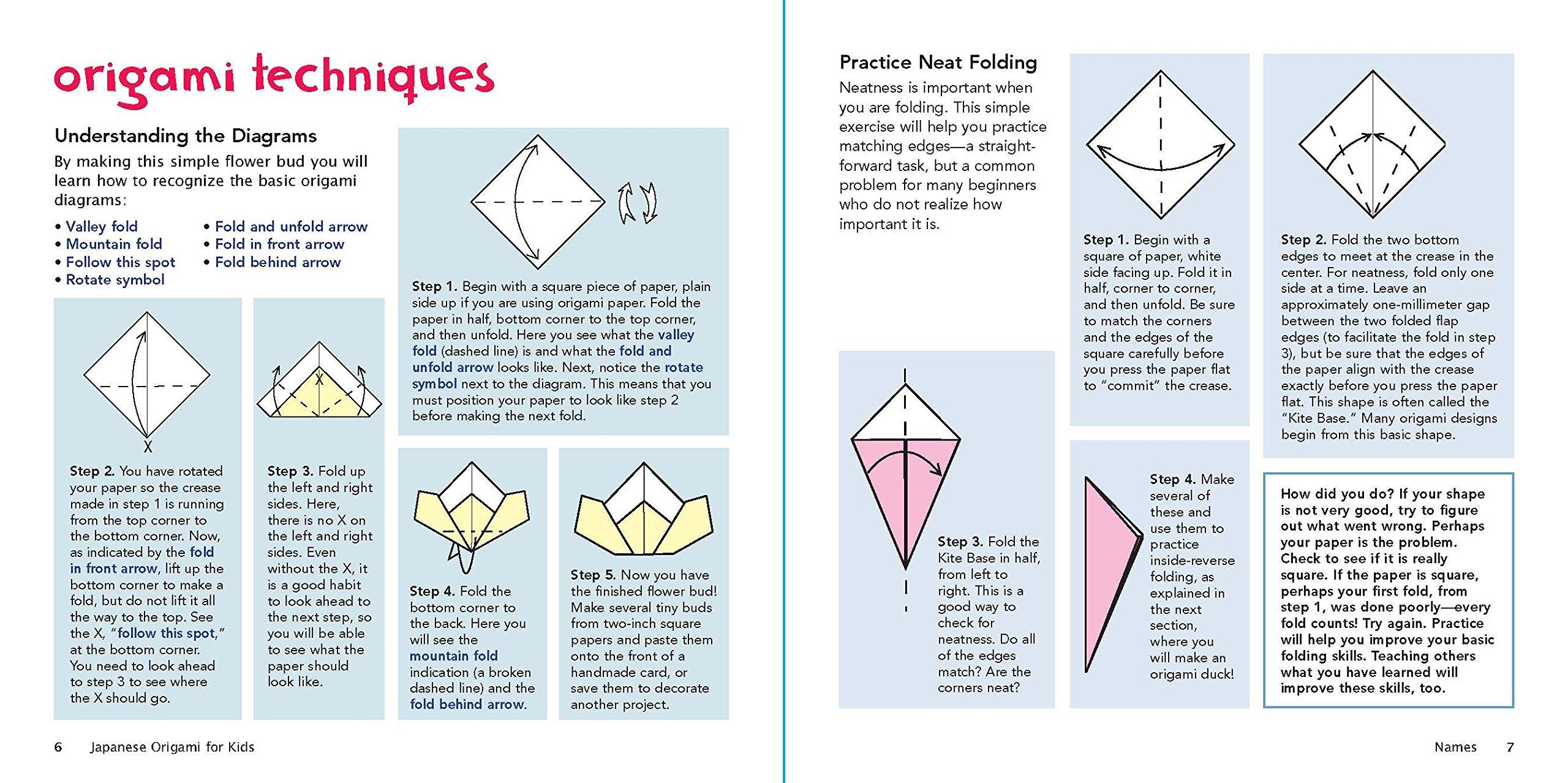 Amazon.com: Japanese Origami Kit for Kids: 92 Colorful Folding ...