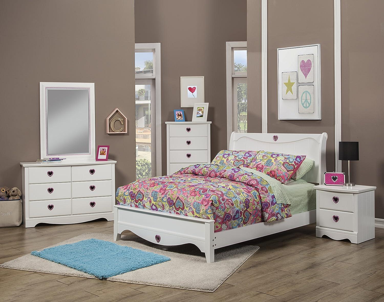Amazon.com: Sandberg Furniture Sparkling Hearts Bedroom Set ...