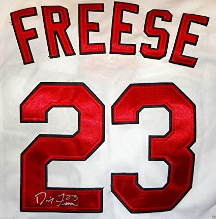 ef640cfda2e DAVID FREESE SIGNED ST LOUIS CARDINALS JERSEY 2011 WORLD SERIES MVP PROOF  J5 at Amazon s Sports Collectibles Store