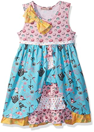 719bbf6ebe8 Jelly the Pug Girls' Little Spring in Paris Hannah Dress