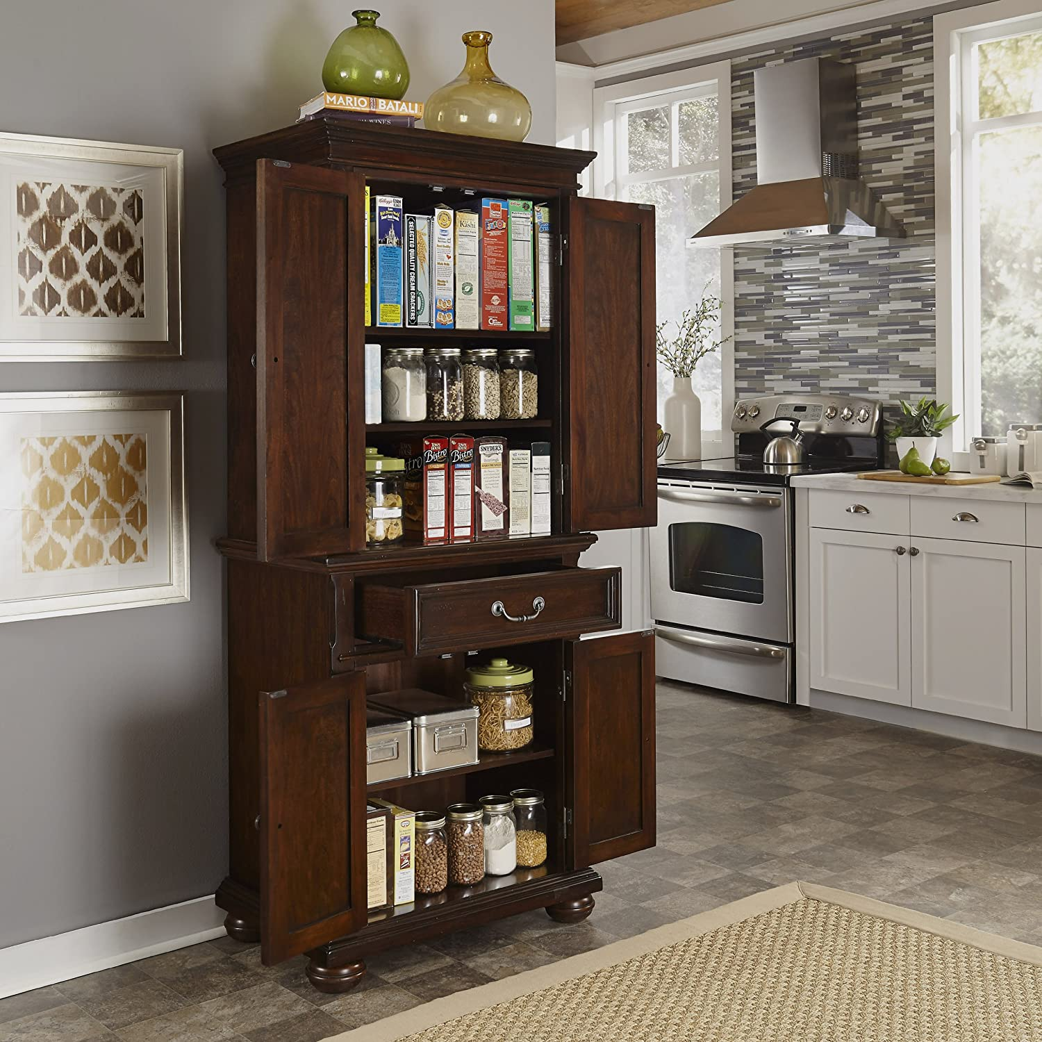 Amazon Home Styles Colonial Classic Pantry Cabinet Kitchen
