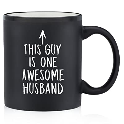 Buy One Awesome Husband Funny Coffee Mug - Birthday & Anniversary Gifts for  Him, Men, Hubby - Best Husband Gifts - Unique Bday Present Ideas from Wife,  Wifey, Her - Fun &