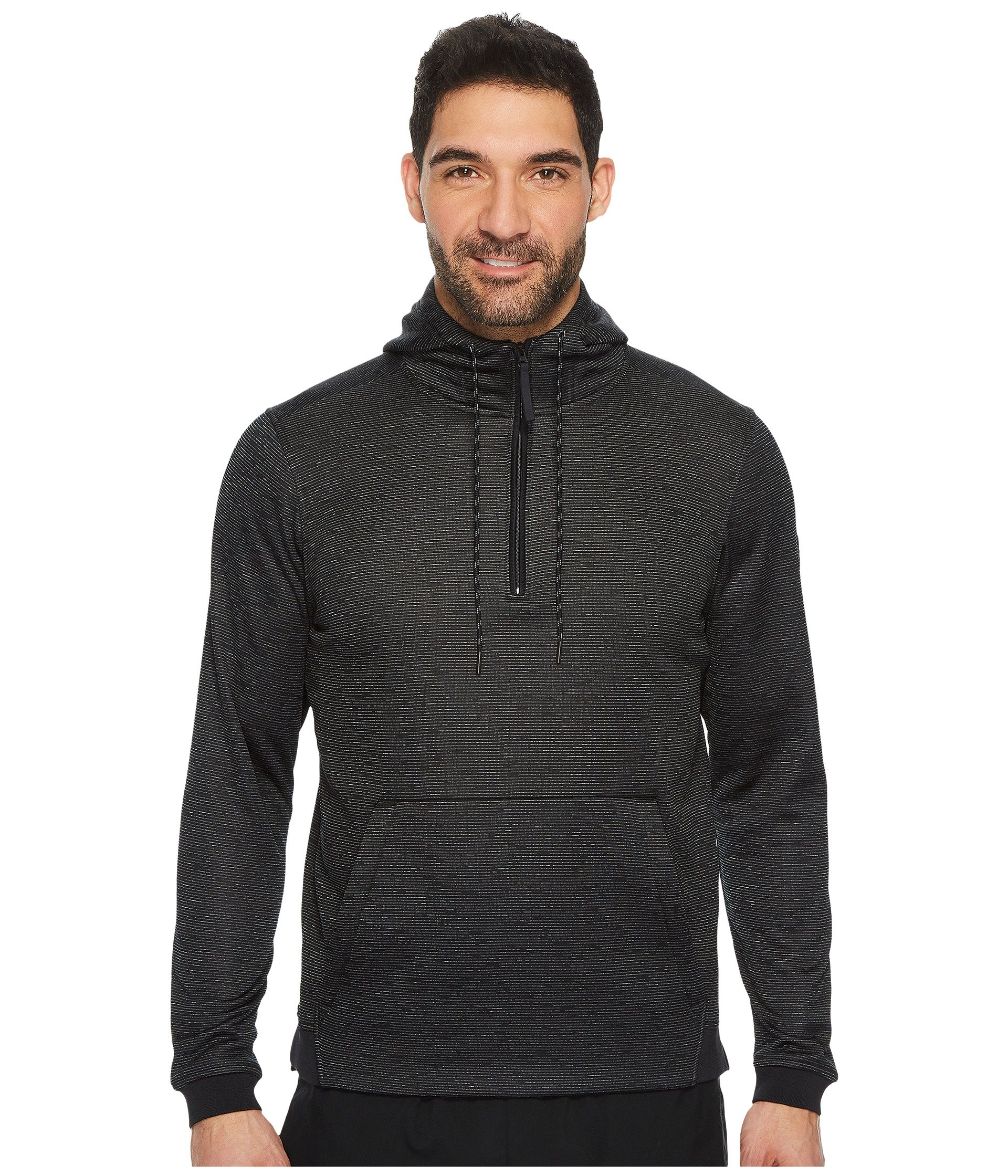 Men's Under Armour Armour Fleece Icon 1/4 Zip PO Hoodie, Black, X-Small